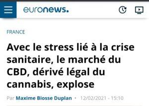 Avec le stress lié à la crise sanitaire, le marché du CBD, dérivé légal du cannabis, explose