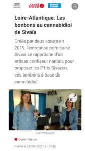 Loire-Atlantique. Les bonbons au cannabidiol de Sivaïa