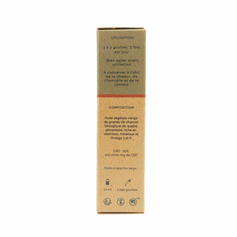 Packaging huile de CBD Chanvre 20%