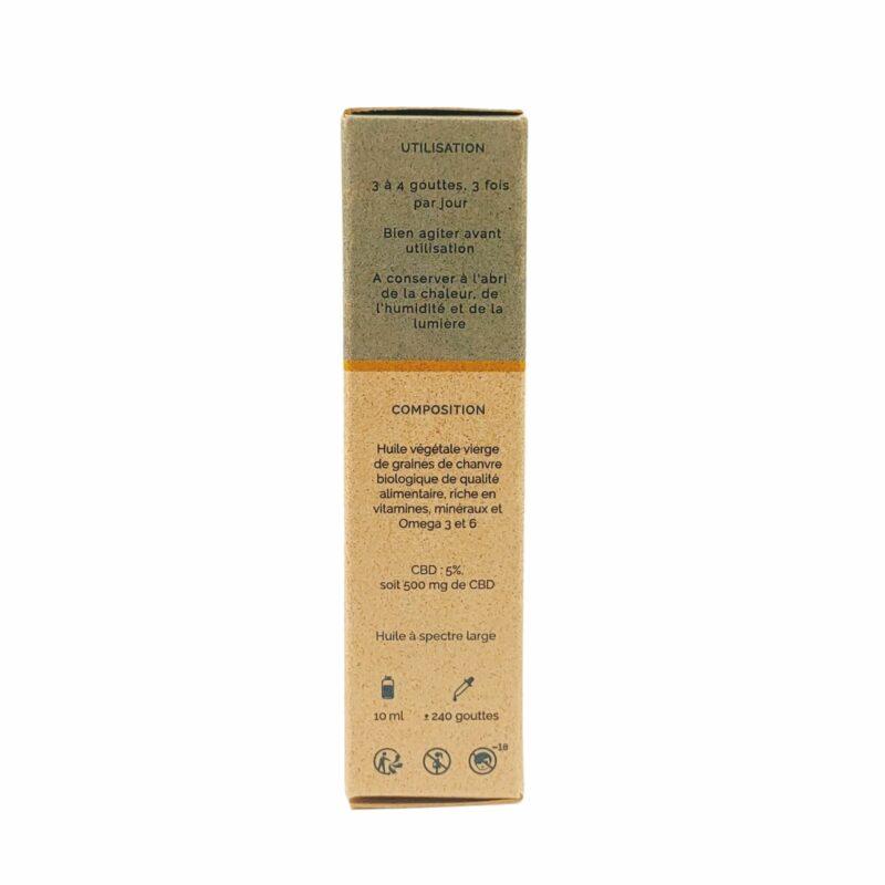 Packaging huile de CBD Chanvre 5%