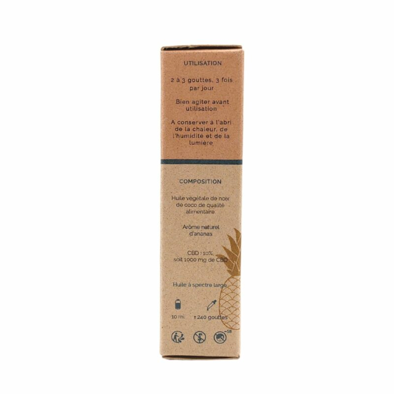 Packaging huile de CBD Coco Ananas 10%