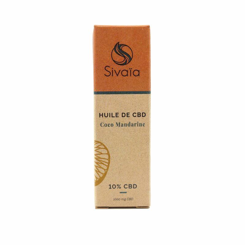 Packaging huile de CBD Coco Mandarine 10%